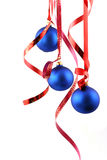 Blue balls - Christmas decoration Royalty Free Stock Photo