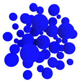 Blue balls. 3d volumetric sphere balls background Stock Photo