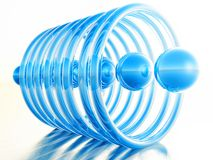 Blue balls blue rings Royalty Free Stock Photos