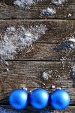 Blue Balls on wooden planks  Stock Photo