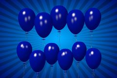 Blue baloons concept... Royalty Free Stock Photo