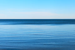 Blue Baltic sea. Calm Baltic sea and clear blue sky Stock Photo