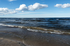 Blue Baltic sea. Stock Photo