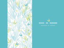 Blue bamboo branches vertical decor background. Vector Blue bamboo branches vertical seamless decor background with hand drawn elements royalty free illustration