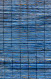 Blue bamboo curtain Royalty Free Stock Images
