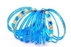 Blue bangles Stock Image