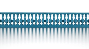 Blue banister render Royalty Free Stock Image