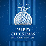 Blue banned christmas card 2 Royalty Free Stock Photos