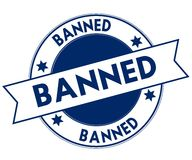 Blue BANNED stamp. Royalty Free Stock Photos