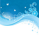 Blue banner Royalty Free Stock Photography