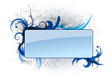Blue banner. With the ornaments Royalty Free Stock Photo