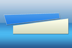 Blue Banner - 2. There is a a blue and white banner waiting for your text Stock Photography