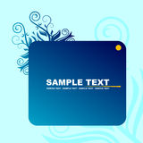 Blue banner Stock Images
