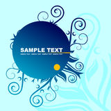 Blue banner Stock Photo