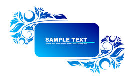 Blue banner Royalty Free Stock Photo