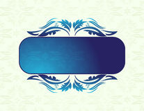 Blue banner Stock Photography