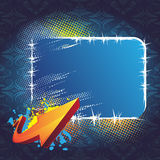 Blue banner and arrow Stock Photos