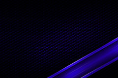 Blue banner on black carbon fiber hexagon. Background and texture. 3d illustration Royalty Free Stock Photography