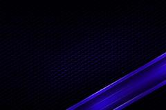 Blue banner on black carbon fiber hexagon. Royalty Free Stock Photography