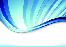 Blue banner with blue rays Royalty Free Stock Photography