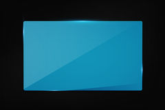 Blue banner on carbon background royalty free stock photos