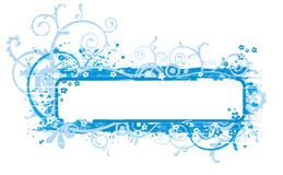 Blue banner illustration Royalty Free Stock Photography