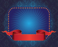Blue banner and ribbon Royalty Free Stock Images