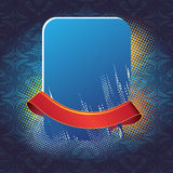 Blue banner and ribbon Stock Image