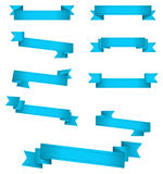 Blue banner ribbons Royalty Free Stock Photo