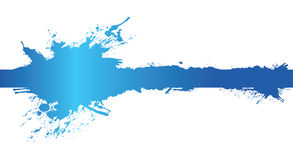 Blue banner splash. A blue banner splash ink and paint Royalty Free Stock Photography