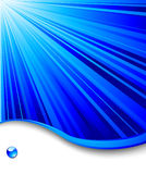 Blue banner template - ray background stock images