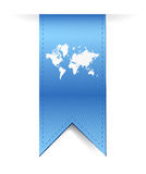 Blue banner world map illustration design Royalty Free Stock Photography