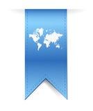 Blue banner world map illustration design Royalty Free Stock Photography