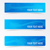 Blue banners with brush strokes Stock Photo