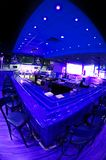 Blue Bar. A blue bar in a nightclub setting before open Royalty Free Stock Photos