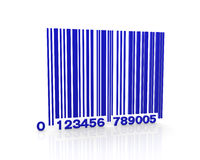 Blue bar code Stock Images