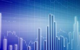 Blue bar graph Stock Image