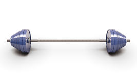Blue barbell isolated Stock Photo