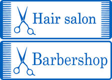 Blue barbershop signboard Royalty Free Stock Photo