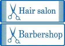 Blue barbershop signboard Royalty Free Stock Photo