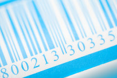 Blue barcode Royalty Free Stock Image