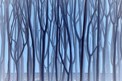 Blue Bare Branches Royalty Free Stock Photos