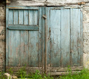 Blue barn door Royalty Free Stock Images