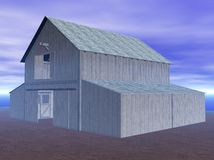Blue barn rendering. A three-dimensional rendering of a blue barn Stock Images