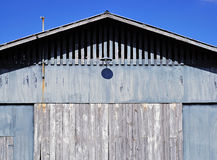 Blue Barn in Summer Royalty Free Stock Image