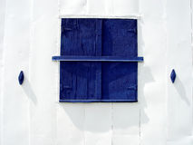 Blue Barn Window Royalty Free Stock Photos