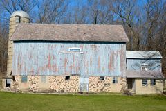 Blue Barn In Wisconsin Royalty Free Stock Photos