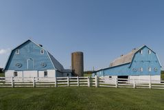 Blue barns Stock Image