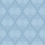 Blue baroque bright pattern Royalty Free Stock Images