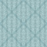 Blue baroque bright pattern Stock Photo